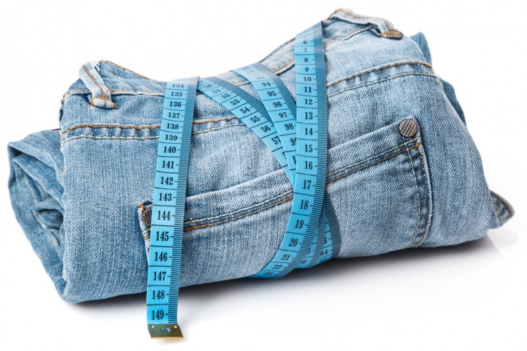 Jeans and a measuring tape